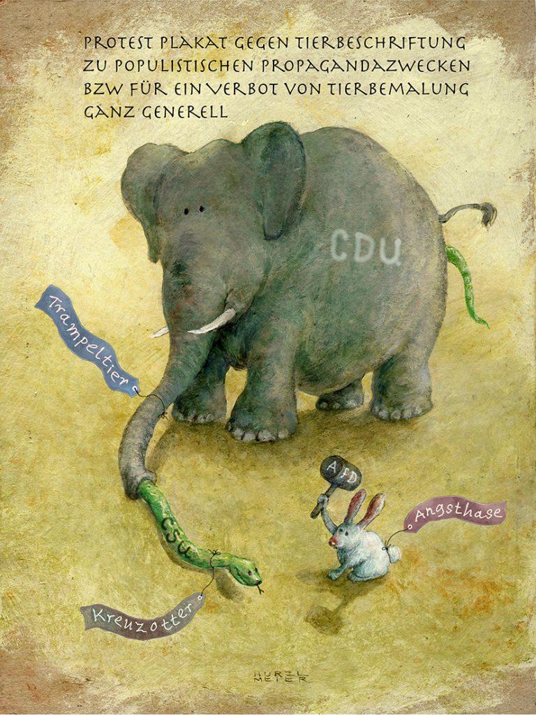 TITANIC-Magazin - Protest Plakat gegen Tierbeschriftung